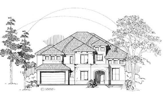 Florida House Plan 61893 with 4 Beds, 4 Baths, 3 Car Garage Elevation