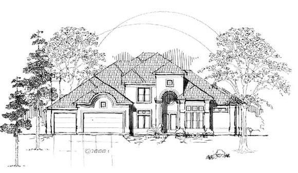 Florida House Plan 61894 with 4 Beds, 4 Baths, 3 Car Garage Elevation