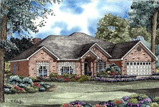 European Traditional House Plan 62003 Elevation
