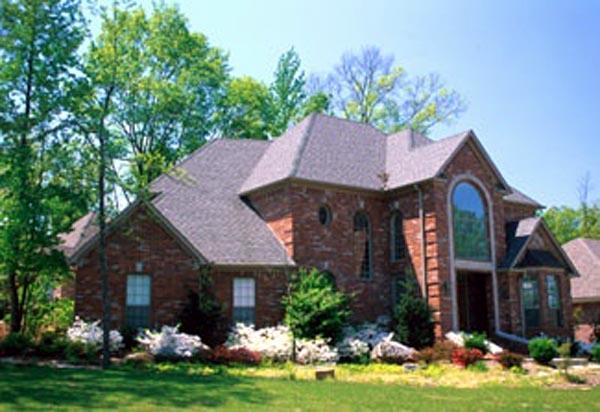 European Southern House Plan 62005 Elevation