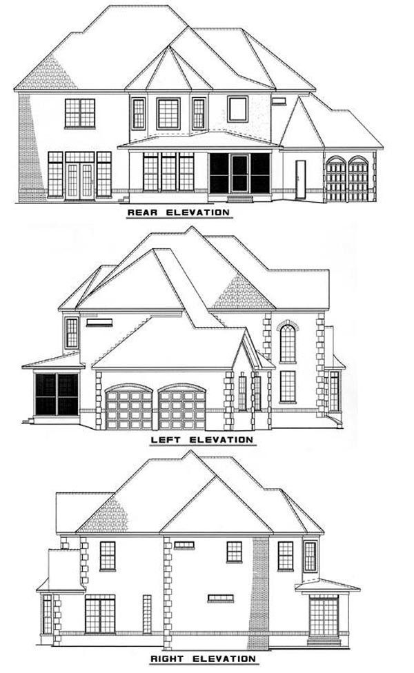 European Southern House Plan 62005 Rear Elevation