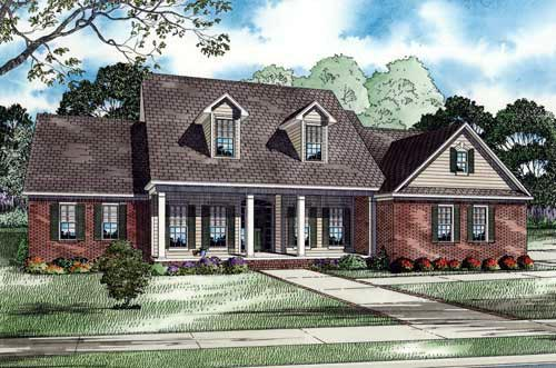 Elevation of Country   Southern   House Plan 62006