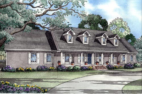 Country Southern House Plan 62014 Elevation