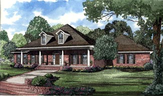 Southern House Plan 62016 Elevation