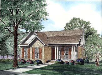 Colonial Country Southern House Plan 62027 Elevation