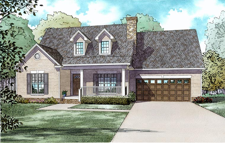 Southern House Plan 62030 with 3 Beds, 3 Baths Elevation