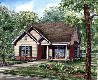 Bungalow Country Southern House Plan 62033 Elevation