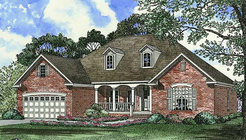 Traditional House Plan 62037 Elevation
