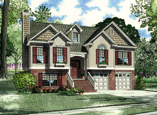 House Plan 62038 Elevation