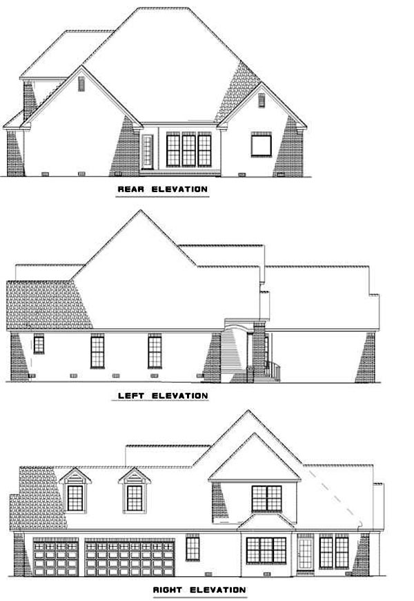 Traditional House Plan 62043 Rear Elevation