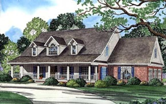 Country House Plan 62044 with 4 Beds, 4 Baths, 3 Car Garage Elevation