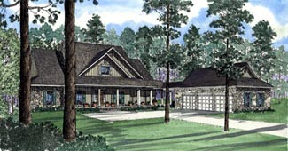 Country Southern House Plan 62046 Elevation