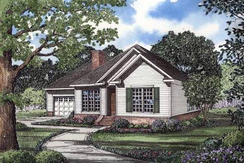Traditional House Plan 62048 Elevation
