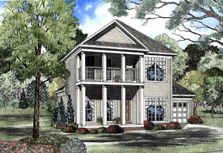 Colonial House Plan 62057 Elevation