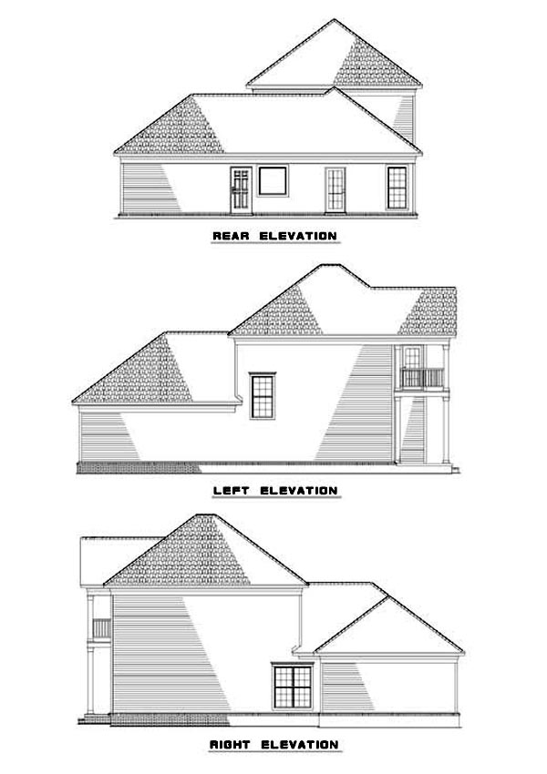 Colonial House Plan 62057 Rear Elevation