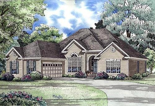 European Traditional House Plan 62060 Elevation