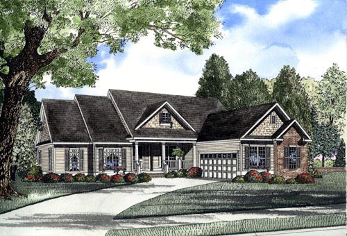 Country Traditional House Plan 62062 Elevation