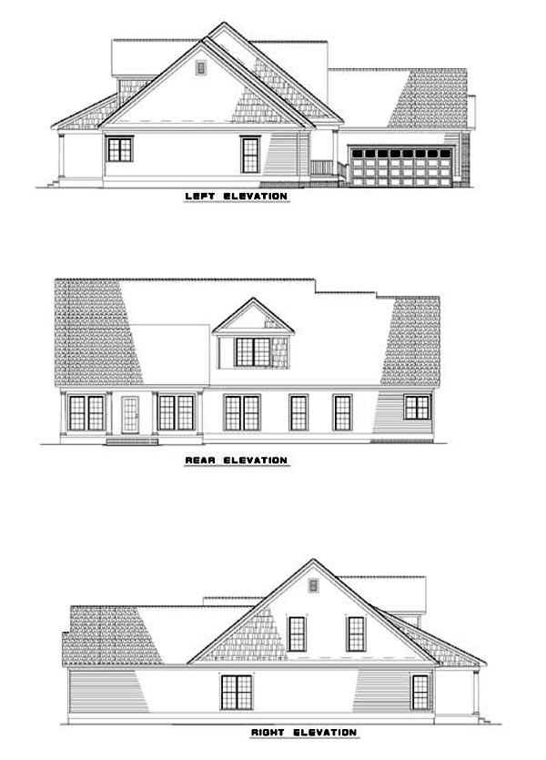 Country Traditional House Plan 62062 Rear Elevation