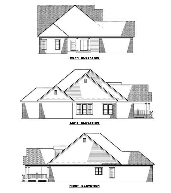 Southern House Plan 62063 Rear Elevation