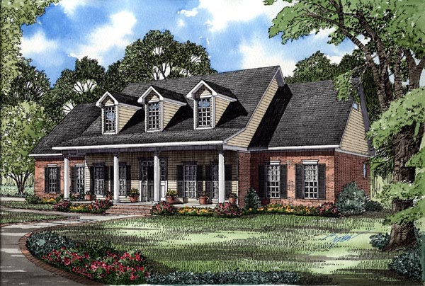 Colonial Country Southern House Plan 62072 Elevation