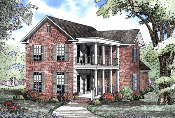 Colonial Southern House Plan 62078 Elevation