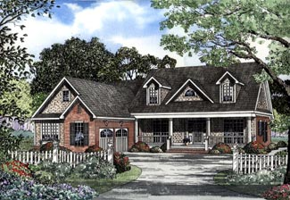 Cape Cod, Country House Plan 62087 with 3 Beds, 3 Baths, 2 Car Garage Elevation
