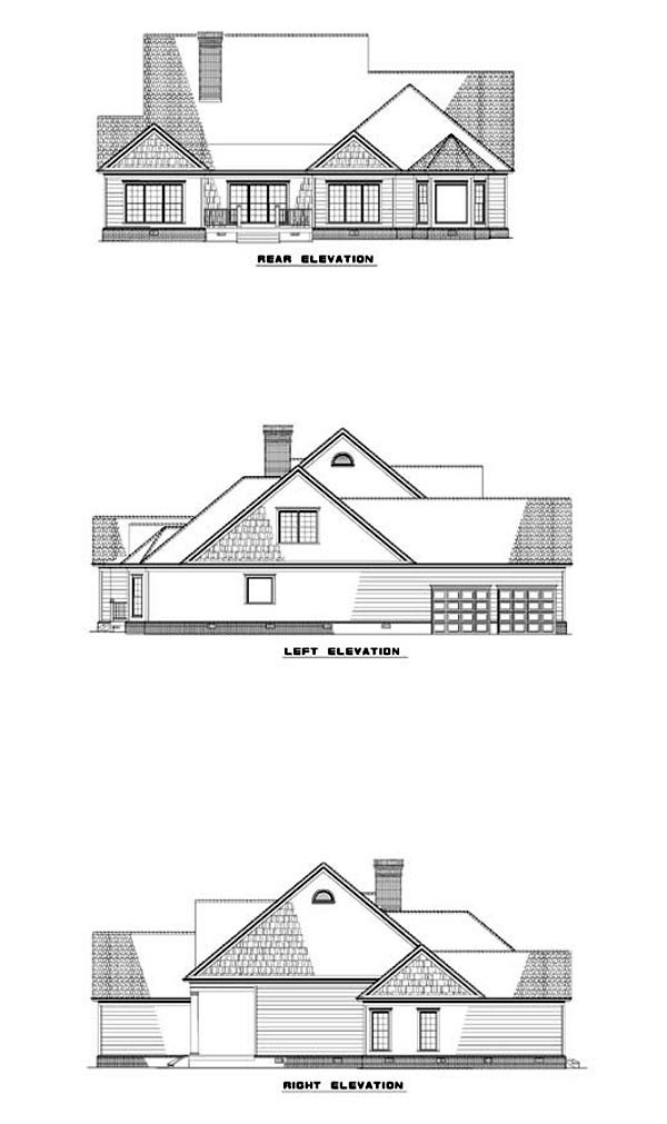 Country Southern House Plan 62088 Rear Elevation