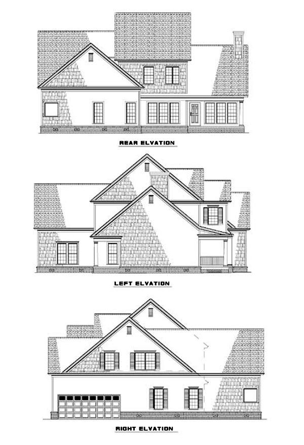 Country Traditional House Plan 62089 Rear Elevation
