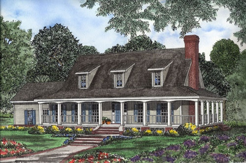 Country Southern House Plan 62094 Elevation