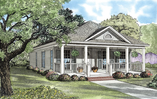 Elevation of Country   Southern   House Plan 62096