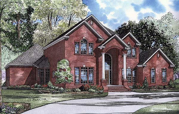 Colonial Traditional House Plan 62112 Elevation