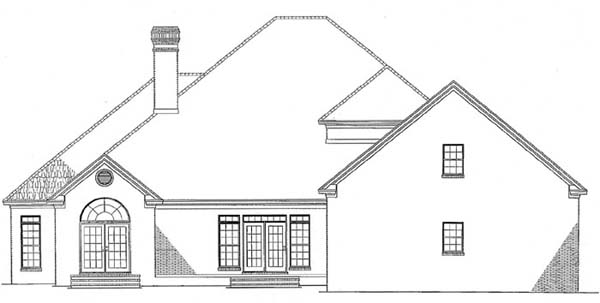 Colonial Traditional House Plan 62112 Rear Elevation