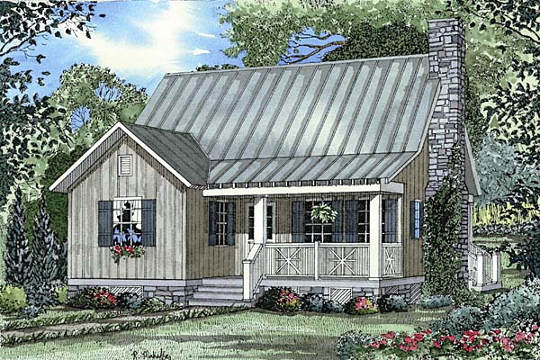 Cabin Country Southern House Plan 62114 Elevation