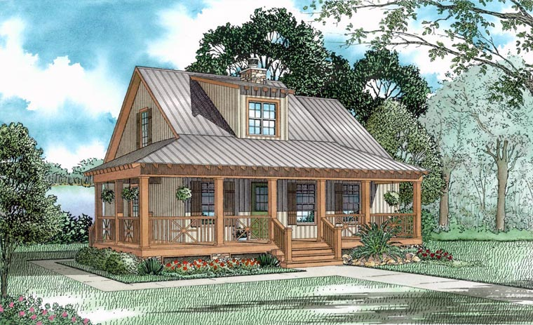 Cabin Country Southern House Plan 62117 Elevation
