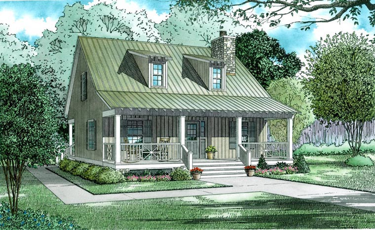 Cabin Country Southern House Plan 62118 Elevation