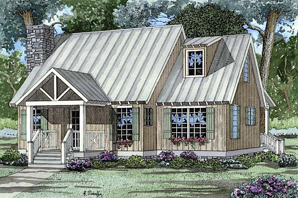Bungalow Cabin Cottage Southern House Plan 62119 Elevation