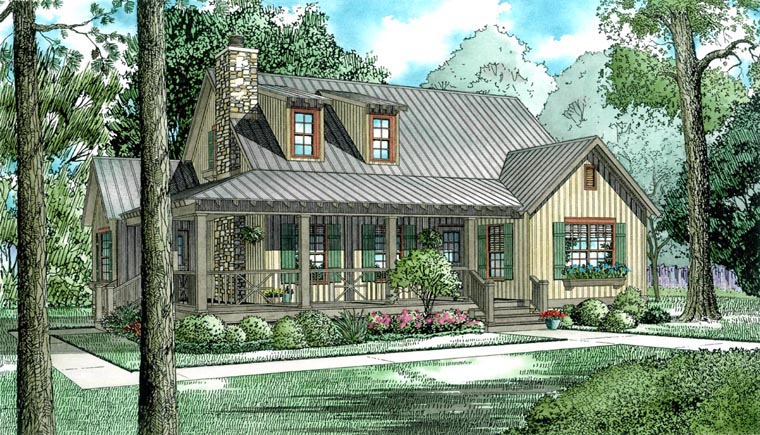 Bungalow Country Southern House Plan 62120 Elevation