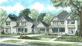 Country, Southern, Traditional House Plan 62128 with 5 Beds, 4 Baths, 2 Car Garage Elevation