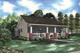 Cabin, Country, Southern House Plan 62142 with 3 Beds, 2 Baths, 2 Car Garage Elevation
