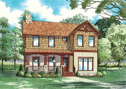 Bungalow Country Southern Elevation of Plan 62144