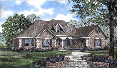 European Traditional House Plan 62169 Elevation