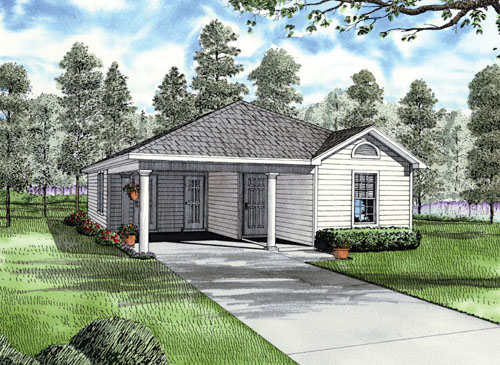 Traditional House Plan 62171 with 3 Beds, 2 Baths, 1 Car Garage Elevation