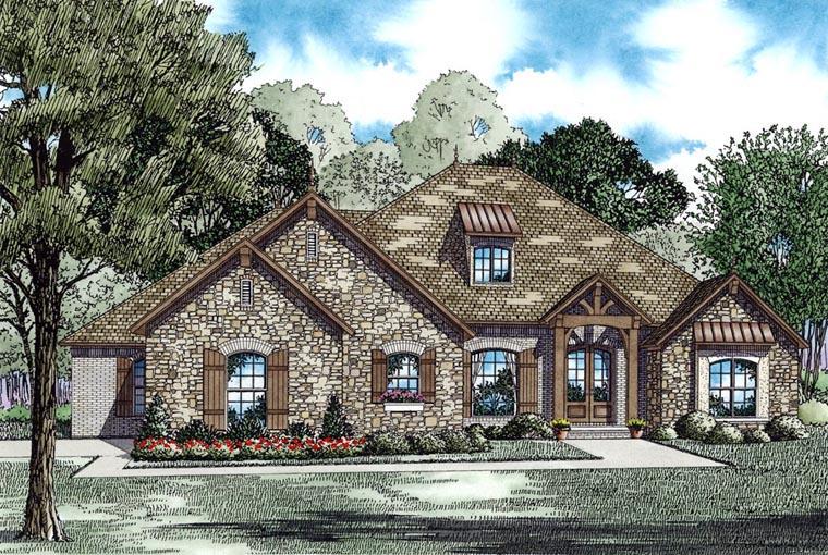 Craftsman European House Plan 62188 Elevation