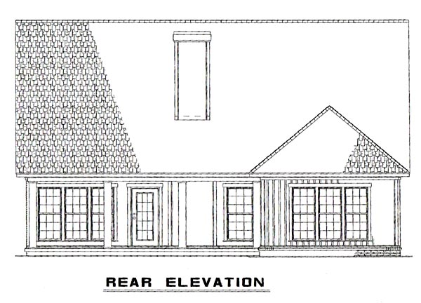 Bungalow Traditional House Plan 62190 Rear Elevation