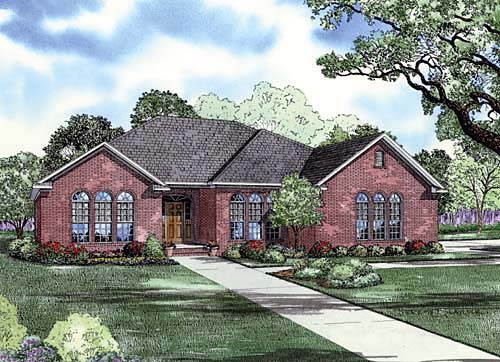 European Traditional House Plan 62194 Elevation