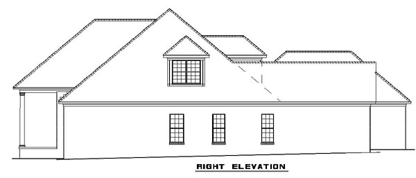 Colonial, Southern House Plan 62195 with 4 Beds, 3 Baths, 3 Car Garage Picture 2