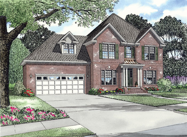 Colonial Traditional House Plan 62200 Elevation