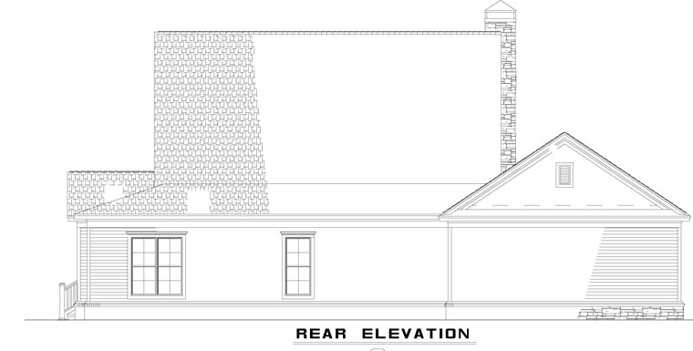 Country Farmhouse House Plan 62207 Rear Elevation