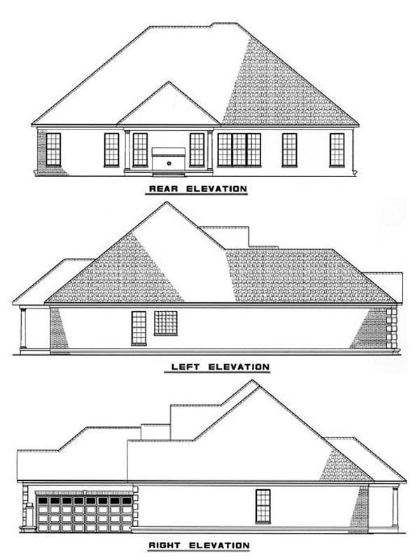 House Plan 62213 Rear Elevation