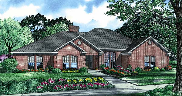 House Plan 62222 Elevation